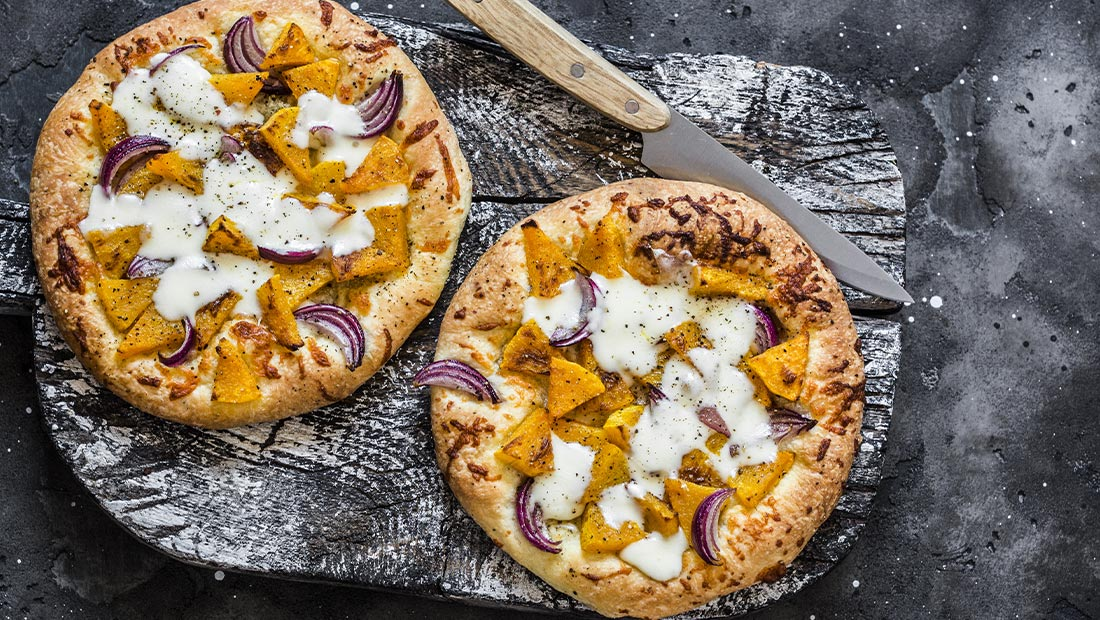 pizza met pompoen
